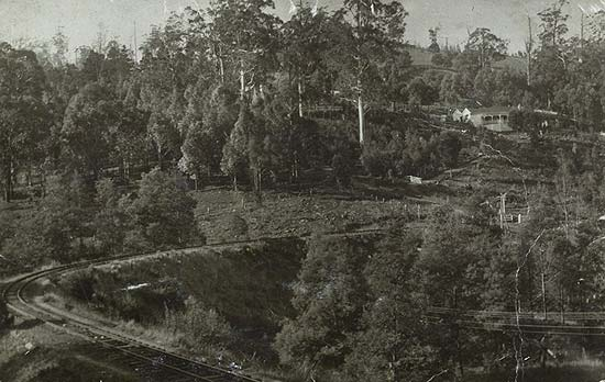 The Belgrave curve pre-Puffing Billy
