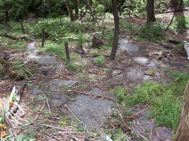 A truckload of rock on our site
